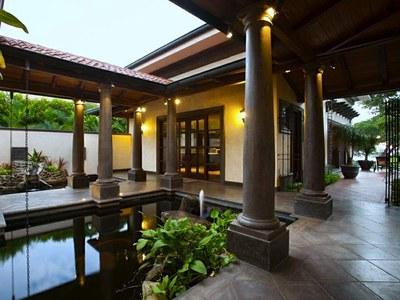Entrance & Koi Pond
