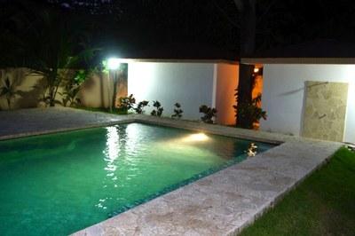 Surfside/Potrero Condo-Community Pool at Night