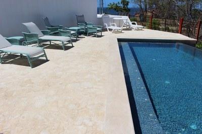Seating Pool Area of Casa Mega Flamingo Beach Rental Community Infinity Pool