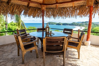 Sun Deck Seating Area Casa Mega Flamingo Beach Cliff Side Ocean View Rental