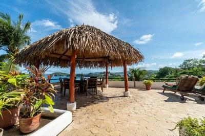 Gazebo of Casa Mega Flamingo Beach Cliff Side Ocean View Rental