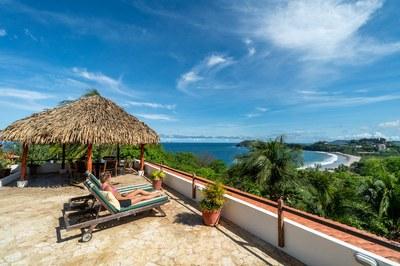 Cliff Side Ocean View Sun Deck of Casa Mega Flamingo Beach Cliff Side Ocean View Rental