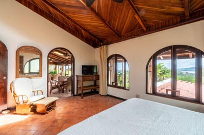 Master Bedroom of Casa Mega Flamingo Beach Cliff Side Ocean View Rental