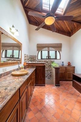 Master Bathroom Casa Mega Flamingo Beach Cliff Side Ocean View Rental