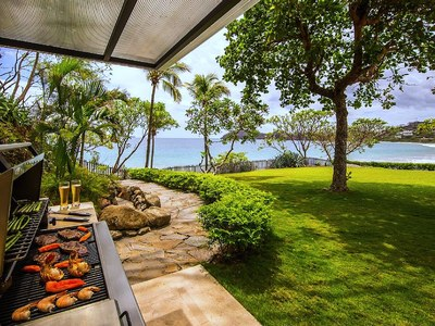 BBQ Area & Private Beach Walkway