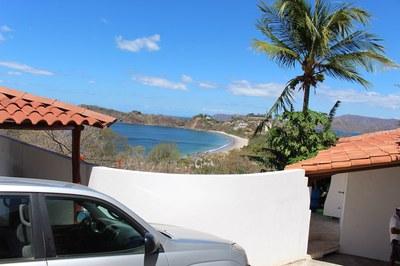Flamingo Beach Costa Rica Ocean View Rental Infinity Pool parking.JPEG