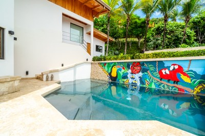 Private Pool and Entrance Area