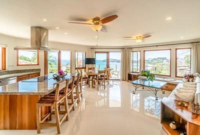 Great Room Interior - Flamingo Beach Ocean View Luxury Rental