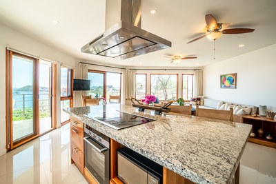Kitchen to Living Interior View