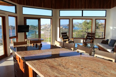 Casa Jungle I Flamingo Beach View Rental Costa Rica kitchen island view.JPG