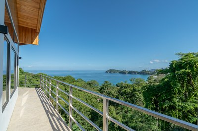 Balcony to Flamingo Beach View of Casa Jungle - Jungle House - Flamingo Beach Costa Rica Luxury Rental