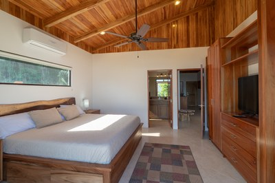 Master Suite Balcony to Interior View of Casa Jungle - Jungle House - Flamingo Beach Costa Rica Luxury Rental