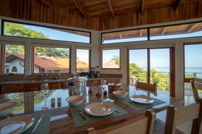 Kitchen Island of Casa Jungle - Jungle House - Flamingo Beach Costa Rica Luxury Rental
