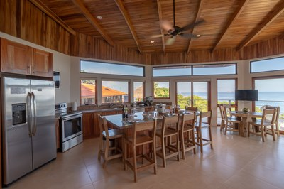 Kitchen and Island of Casa Jungle - Jungle House - Flamingo Beach Costa Rica Luxury Rental.jpg