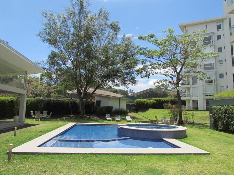 8686: First Floor Apartment for Rent in Escazu, 3H, 2.5B, 3P, Maids Bedroom and Garden.