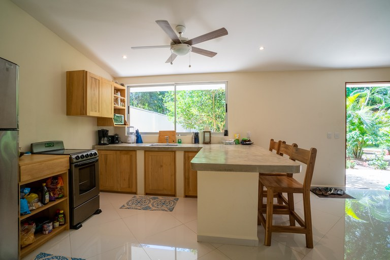 Casa Carambola: Spacious 1 Bed 1 Bath Riverfront Residence for Rent in Surfside / Playa Potrero