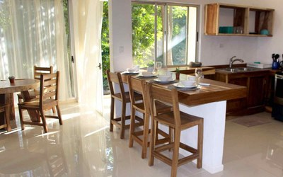 Great Room of Casa Guana I - Efficiency Riverfront Residence for Rent in Surfside / Playa Potrero