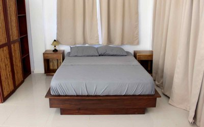 Bed of Casa Guana I - Efficiency Riverfront Residence for Rent in Surfside / Playa Potrero