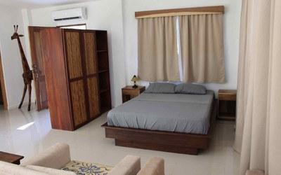Bedroom of Casa Guana I - Efficiency Riverfront Residence for Rent in Surfside / Playa Potrero