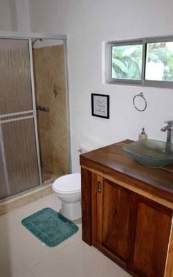 Bathroom of Casa Guana I - Efficiency Riverfront Residence for Rent in Surfside / Playa Potrero