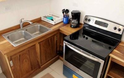 Kitchen of Casa Guana I - Efficiency Riverfront Residence for Rent in Surfside / Playa Potrero