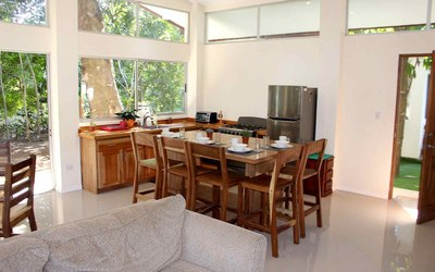 Casa Cedro-Kitchen & Dining Costa Rica Modern Contemporary Rental Home in Gated Community