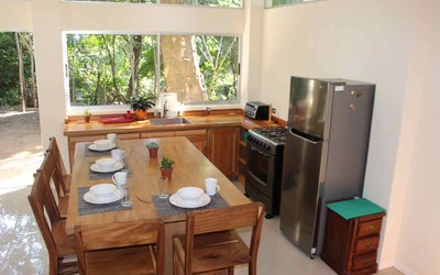 Casa Cedro-Kitchen Costa Rica Modern Contemporary Rental Home in Gated Community
