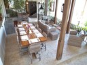 Outside BBQ lounge Area with Table of Luxury 5 Bedroom Oceanfront Residence in Guanacaste, Costa Rica
