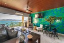 Living Area of This Modern Ocean View Condominium at the Heart of Flamingo