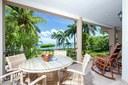 Private Veranda and Dining Area of This Ocean View Condominium with Private Veranda