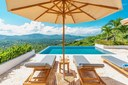Lounging Deck of Modern Luxury 4 Bedroom  Ocean View Villa in Guanacaste, Costa Rica
