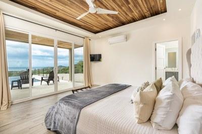 Bedroom of 3 Bedroom Luxury Villa With Ocean View in Guanacaste, Costa Rica