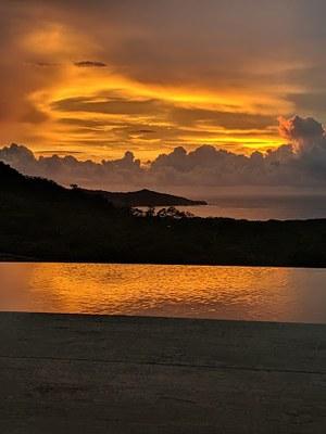Sunset of 3 Bedroom Luxury Villa With Ocean View in Guanacaste, Costa Rica