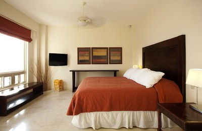 Bedroom of Luxury 5 Bedroom Ocean View Villa in. Guanacaste, Costa Rica