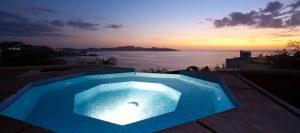 Jacuzzi of Luxury 5 Bedroom Ocean View Villa in. Guanacaste, Costa Rica