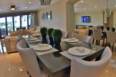Living Area of Beachfront 2 bedroom Luxury Villa for Rent in Playa Flamingo, Guanacaste