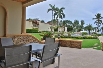 Terrace of Beachfront 2 bedroom Luxury Villa for Rent in Playa Flamingo, Guanacaste