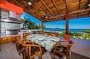 Outside Dining of Ocean View and Ocean Access Villa on Playa Potrero, Guanacaste