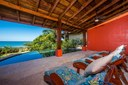Pool Terrace of Ocean View and Ocean Access Villa on Playa Potrero, Guanacaste