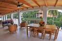 Terrace of Ocean Front Villa with Private Pool for Rent in Playa Potrero