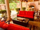 Outside Sitting Area of Elegant Modern Villa with Private Pool Close to Beach in Potrero