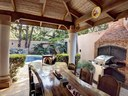 Outside Dining Area of Elegant Modern Villa with Private Pool Close to Beach in Potrero
