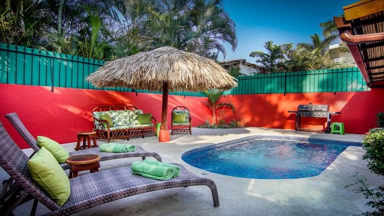 Casa Roja: 3 Bedroom Villa in Potrero with Private Pool in Walking Distance of Beach
