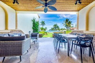 Terrace of Luxury Beach Front Condo in Playa Flamingo