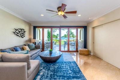Living Area of Luxury Beach Front Condo in Playa Flamingo