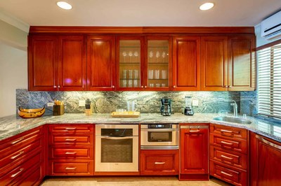 Kitchen of Luxury Beach Front Condo in Playa Flamingo