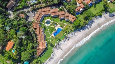 Aerial View of Luxury Beach Front Condo in Playa Flamingo