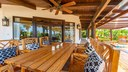 Outside dining of Luxury Villa with Private Apartment and Ocean View in Flamingo