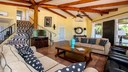 Living Area of Remodeled Ocean View Villa with Private Apartment in Flamingo