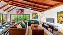 Living Area of Luxury Cliffside Ocean Access Villa in Flamingo
